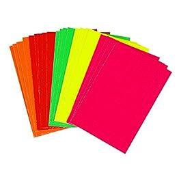 120x néon fluorescent Coupe Carte Retail Globrite Bright couleurs assorties-15x 10cm (15,2x 10,2cm)