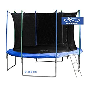 ein trampolin hudora trampolin mit sicherheitsnetz 366 cm top preis. Black Bedroom Furniture Sets. Home Design Ideas
