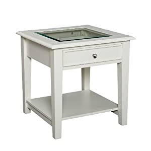 Southern Enterprises Valley End Table, White