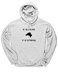 HippoWarehouse MY BEST FRIEND IS MY GREYHOUND unisex Hoodie hooded top