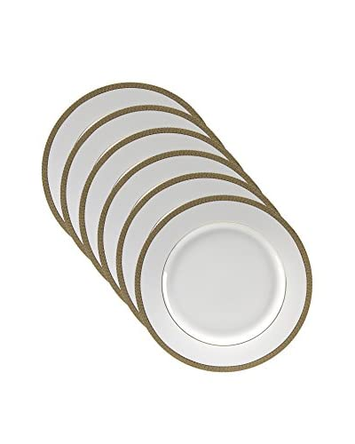 10 Strawberry Street Set of 6 Luxor Gold 10.75 Dinner Plates