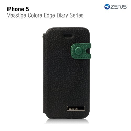 Special Sale Zenus Color Edge Cover Case for Apple iPhone 5 (Real Black)