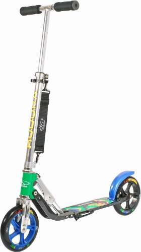 Hudora 14014 Scooter Big Wheel 205cm Brazil - Grün Blau Gelb -LIMITED EDITION-