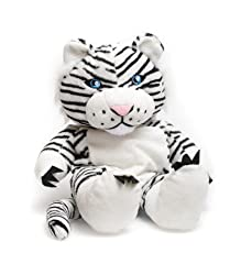 White Tiger Plush Back Pack