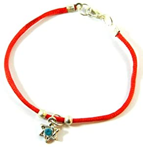 Star of David Magen Leather Bracelet Evil Eye Charm Kabbalah MY-0158