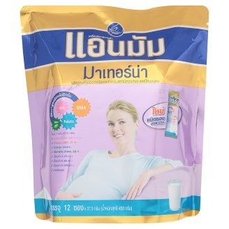 Anmum Materna : Low Fat Milk Powder Instant Flavorless For Pregnant 450G (37.5 G X 12 Bags) Best Seller Of Thailand