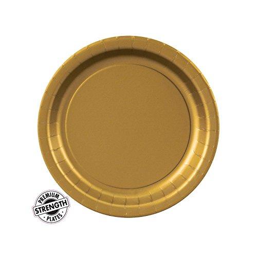 Glittering Gold (Gold) Dessert Plates (24) - 1