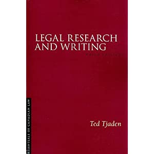 legal writing and research book