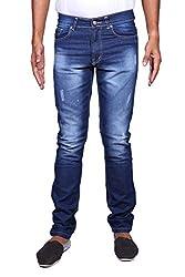 John Wills Men's Slim Fit Jeans (MCR1056, Blue, 38)