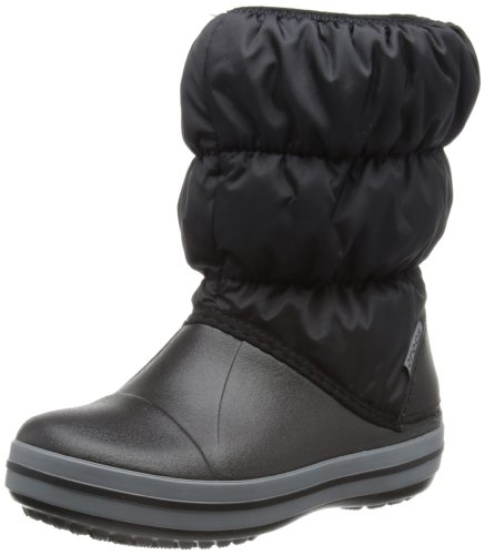 crocs Winter Puff 14613, Stivali da neve Giovane, Negro (Black/Charcoal 070), 24/25