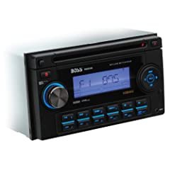 Boss 822UA In-Dash Double-Din CD MP3 Receiver with Front Panel AUX Input, USB, SD... by BOSS
