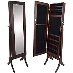 schmuckschrank mit spiegel 161x47x38cm spiegelschrank. Black Bedroom Furniture Sets. Home Design Ideas