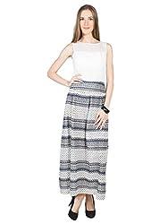 Panit Women's Georgette Dress (PANI31_Blue_Medium)
