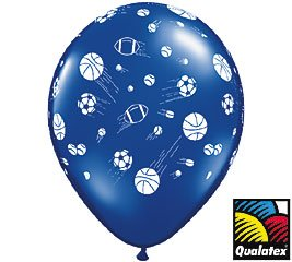 (12) Sports Balls Latex Balloons 11