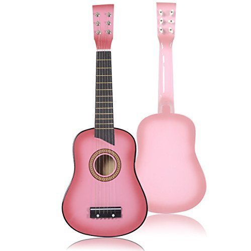 Pink-Guitar-For-Kids-25-Acoustic-Beginners