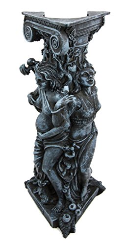 Atlantic Collectibles Triple Goddess Maiden Expectant Mother & Crone Pagan Worship Decorative Candle Holder Figurine (Full Moon Resin Statue compare prices)