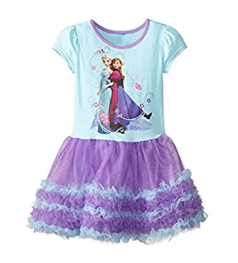 Buy Home Frozen Princess Elsa and Anna Dress Girl's Purple Tutu Dress Costume