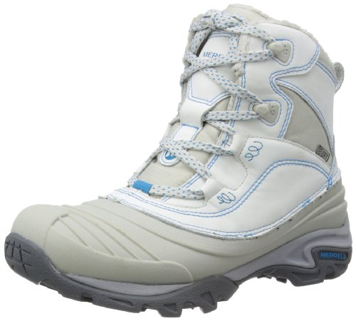 Merrell Womens SNOWBOUND MID WTPF Trekking & Hiking Shoes White Weià (ICE) Size: 7 (41 EU)