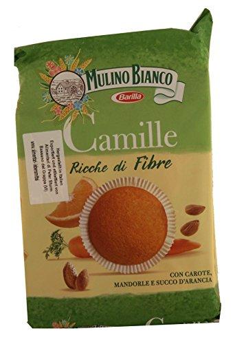 mulino-bianco-camille-con-carote-mandorle-e-succo-darancia-susse-backware-minikuchen-mit-karotten-ma