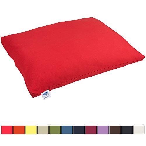 Tapis de méditation Zabuton Calming Breath - Coussin plat extra épais (Rouge cerise)
