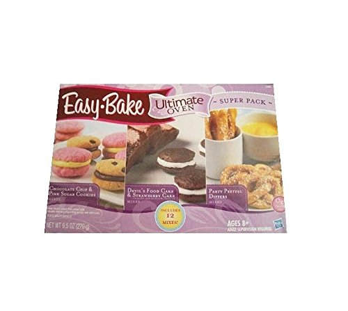 easy-bake-12-super-pack-mixes-comprend-3-yellow-cake-mix-3-chocolate-chip-mix-3-sucre-melange-a-bisc