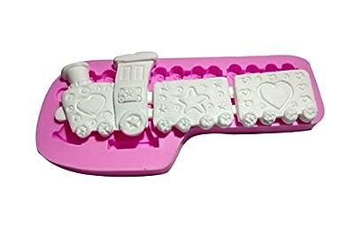 Wocuz MK585 Silicone Mini-train Shape Fondant Mold Candy Making Mold Cake Decoration Gum Mould
