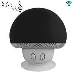 AE (TM) Mini Mushroom Portable Wireless Bluetooth Stereo Speaker Hands Free Speakerphone with Built-in Li-lon battert,Hight Quality Amplified Sound Bluetooth V2.1+ EDR For iPhone/iPad/Laptop/Android.(BLACK)