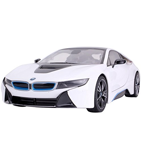 YESURPRISE Modellauto Rastar Spielauto Fernbedienung Auto Car Modell R/C 1:14 BMW i8(Open door) 70110 White Car Model