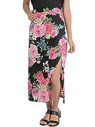 Bonhomie Women Skirts [BCQSB53_Black Print_Medium]