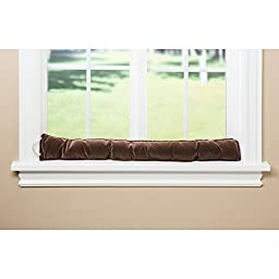 Heavy Duty Cord Draft Blocker - Save Energy - Keep The Cold Out - 36-in (Chocolate Ribbed)
