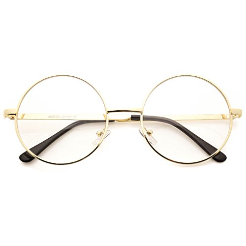 Round Clear Metal Frame Glasses (Round Vintage Glasses compare prices)