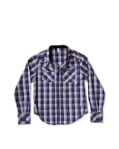 New Caro Camisa Cuadros Niño Violeta