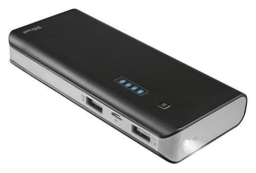Trust Urban 12500 mAh Powerbank  externer Akku (hohe kapazität, 2 USB Anschlüsse, geeignet für iPhone 7/7 Plus, 6S/6S Plus, Galaxy S7/S7 Edge, iPad Air 2, Galaxy Tab S2 ua.) Picture