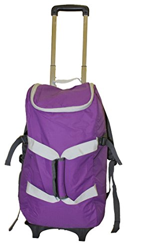 smart-backpack-purple-grey-4-1-rolling-backpack-luggage-duffel-gym-bag-removable-dolly-laptop-tablet