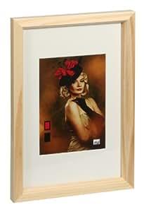 HR-52 Holz Bilderrahmen 10x15 bis 40x50 cm Naturfarben 6 Größen Foto Rahmen: Farbe: Natur | Format: 40x50