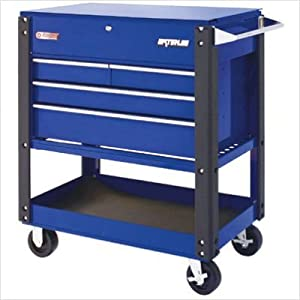Waterloo Waterloo - 4-Drawer Metal Utility Carts 4 Drawer Metal Utility Cart Blue: 797-Uc410Bu - 4 drawer metal utility cart blue