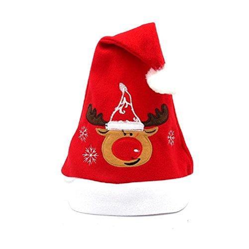 Regali di decorazione Natale Natale Natale Natale cappello qualità bambino adulto velluto ricamo , deer - Premium Piccoli Animali