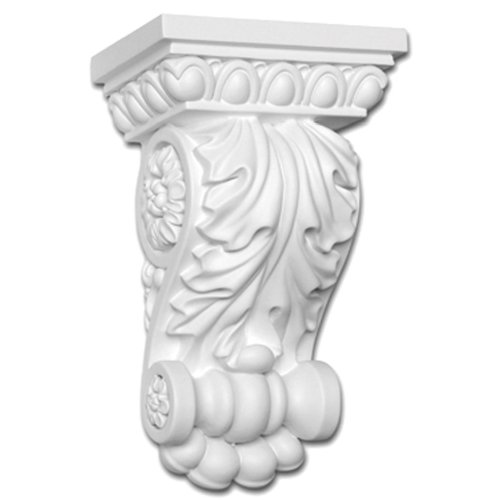 Focal Point 38350 Maderia Corbel 5 1/2-Inch by 8 1/2-Inch by 3 5/8-Inch, Primed White
