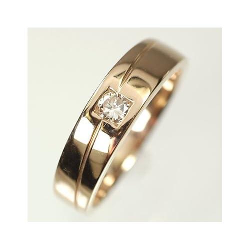 [キュートジュエリー]Cute jewerly K18PG ダイヤモンド0.15ct メンズリング 16