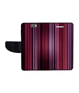 KolorEdge Printed Flip Cover For HTC One A9 Multicolor - (1478-50KeMLogo11644HTCA9)