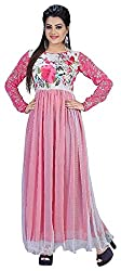 AVSAR PRINTS Women's A-Line Dress (Pink)