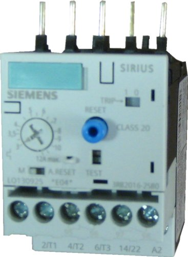 Siemens 3Rb20 16- 1Sb0 Solid State Overload Relay, Class 10, S00 Contactor Size, 3-12A Set Current Value