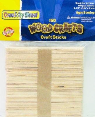 Creativity Street Craft Sticks 150-Count (Pack of 6)