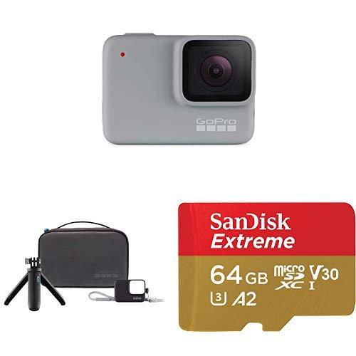 GoPro HERO7 White + Travel Kit + (1) microSD Card
