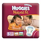 Huggies Natural Fit Size 5 (24-50 lbs/11-22 kg) Nappies 24s