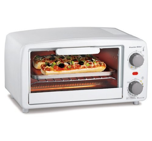 Proctor Silex 4 Slice Toaster Oven Broiler White (Proctor Silex White Toaster Oven compare prices)