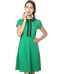 XnY Women's Dress (DR 1020003 XY_Green_10)