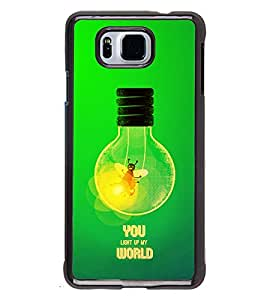 Fuson 2D Printed Quotes Designer back case cover for SAMSUNG GALAXY ALPHA G850 - D4525