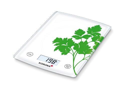 Korona 2050177 Kathrin Balance de Cuisine Électronique avec du Persil Motif
