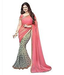 Pushkar Sarees Georgette Saree (Pushkar Sarees_60_Multi-Coloured)